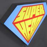 Superman Textiel LED frame