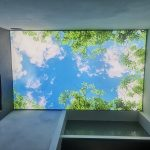 LED textiel fotoplafond geïnstalleerd in Urk.