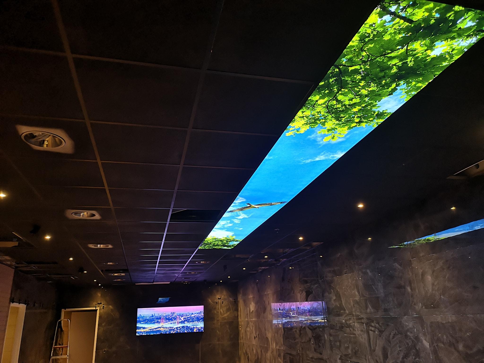 PRolutix Textiel LED fotoplafond - Zwolle